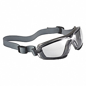 Anti-Fog, Scratch-Resistant Non-Vented Safety Goggles, Clear Lens