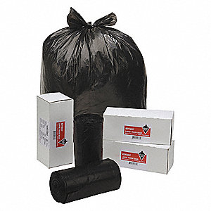30 gal. Extra Heavy Trash Bags, Black, Coreless Roll of 40