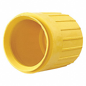 "Weatherproof Boot,Yellow,1.6"" H x 1.6"" W"
