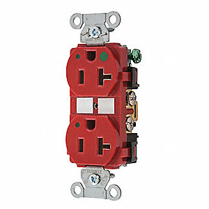 Receptacle,20A,1.0 HP,2 Poles,3 Wires