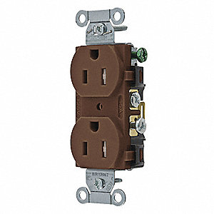 Receptacle,Brown,15A,Nylon,2 Poles