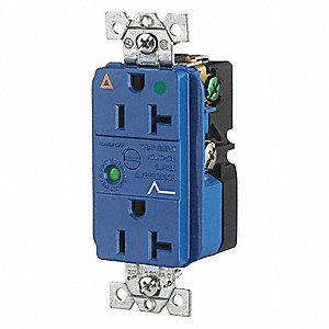 Receptacle,Blue,20A,Nylon,1.0 HP,2 Pole