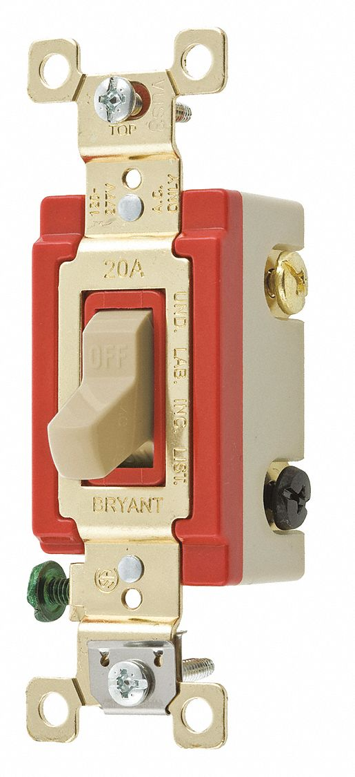 BRYANT Light Wall SwitchClear20A3Way Switch 49YZ67