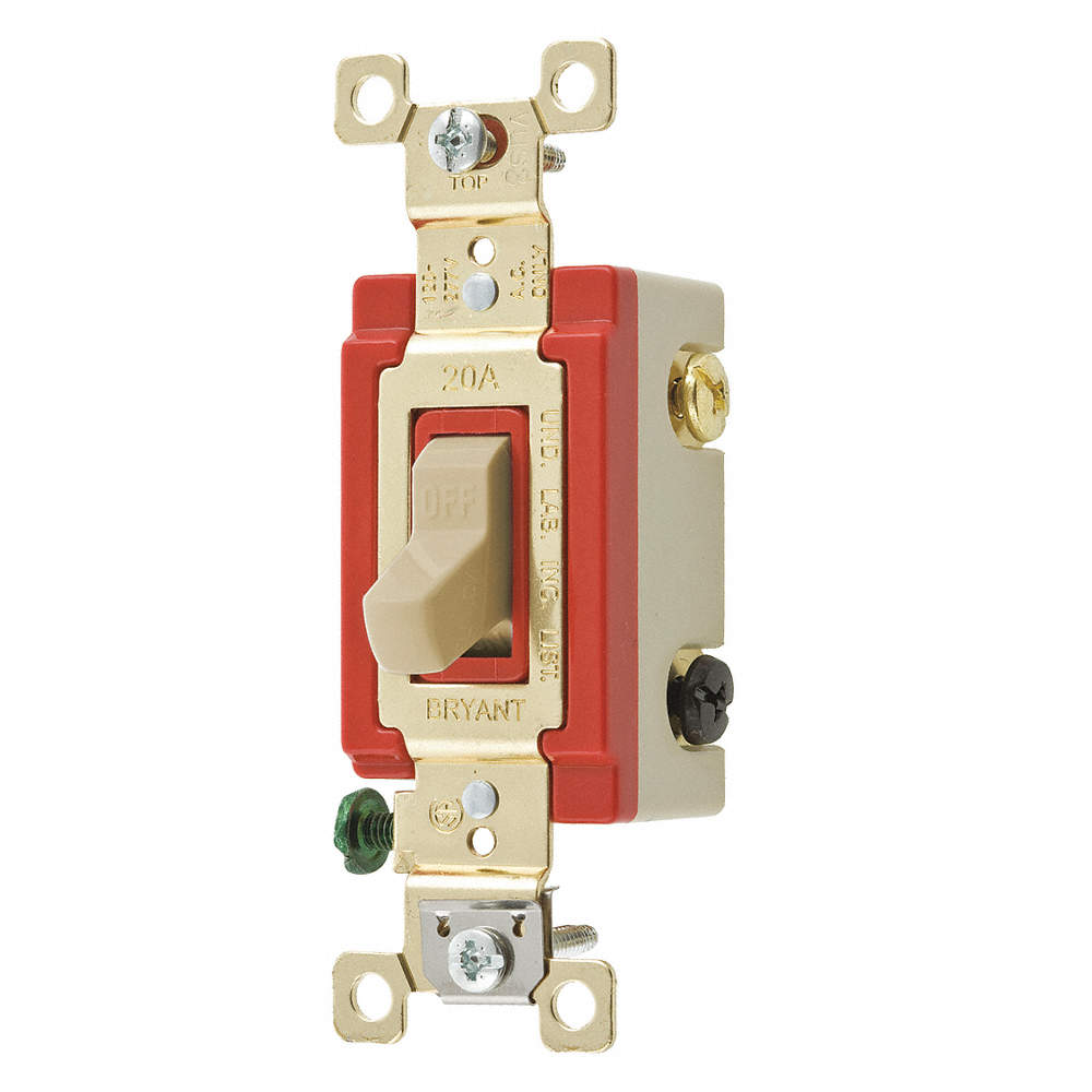 BRYANT Pilot Light Wall Switch, Switch Type: 3-Way, Switch Function ...