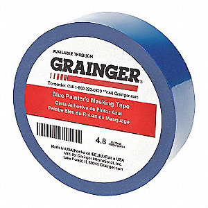 "Paper Masking Tape, Acrylic Tape Adhesive, 4.80 mil Thick, 6"" X 6"", Blue, 1 EA"