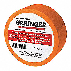 "Masking Tape,Paper,Orange,1/4"",PK144"