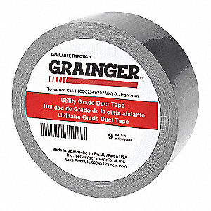 Duct Tape,Silver,Rubber,48mm W,PK12