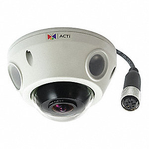 "IP Camera,Dome,Fixed Lens,2-51/64"" L"