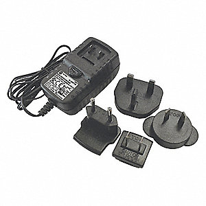 "Power Adapter,Blk,4-21/64"" W,100/240VAC"