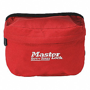 Lockout Pouch,Unfilled,Bag,Red