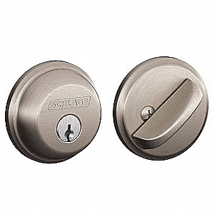 Light-Duty Satin Nickel B-Series Deadbolt, Single-Cylinder, Alike