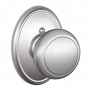 Light Duty Dummy F-Series Knob Lockset, Satin Chrome Finish