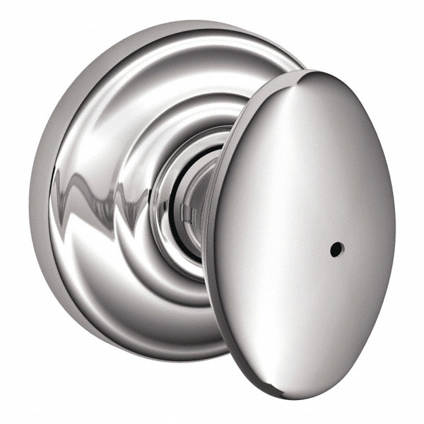Schlage Light Duty Privacy F Series Knob Lockset Chrome