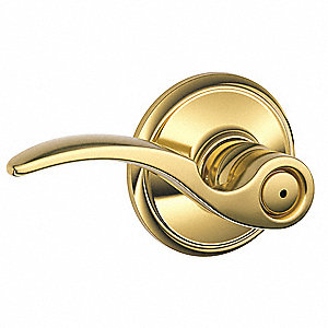 Door Lever Lockset, Mechanical, Not Keyed, Cylindrical, Commercial, Residential