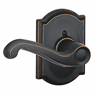 Door Lever Lockset, F Flair/Camelot, Mechanical, Not Keyed Key Type, Cylindrical