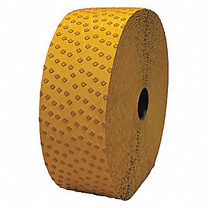 "Pavement Marking Tape,  Reflective Yellow,  360 ft. Length,  4"" Width,  1/16"" Height"