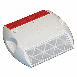 "Pavement Marker,White/Red,4"" L,PK100"