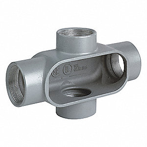 "X-Style 1"" Conduit Outlet Body, Threaded Iron, 11.0 cu. in."
