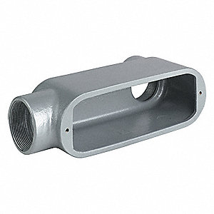 "LL-Style 2-1/2"" Conduit Outlet Body, Threaded Aluminum, 142.0 cu. in."