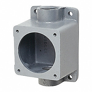 "Back Box,60A,1-1/2"" Hub,Feed Through"