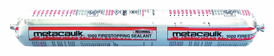 Firestop Sealant, 20 oz Tube, Up to 4 hr Fire Rating, Red