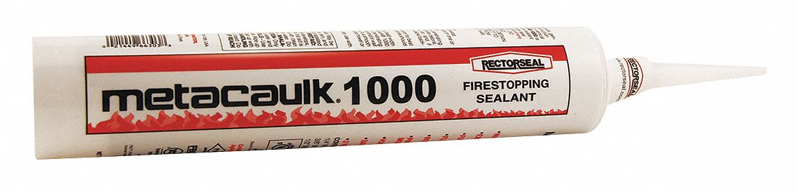 Firestop Sealant, 30 oz Tube, Up to 4 hr Fire Rating, Red