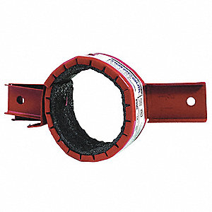Pipe Collar, Metal Pipe, Plastic Pipe Application, Up to 3 hr. Fire Rating, Red