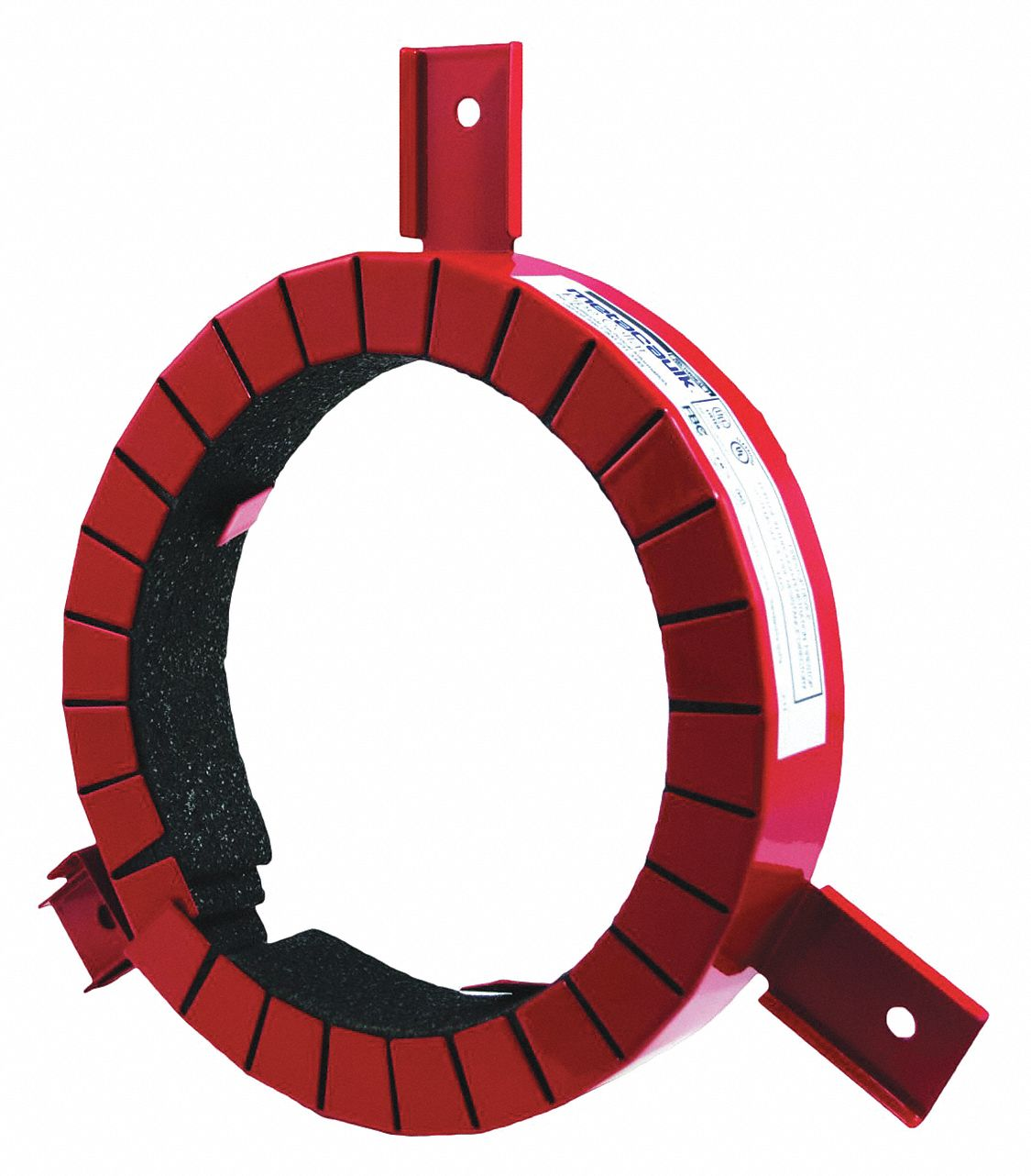 Pipe Collar, Metal Pipe, Plastic Pipe Application, Up to 3 hr Fire Rating, Red