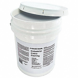 Firestop Sealant, 5 gal. Pail, Up to 2 hr. Fire Rating, White/Gray