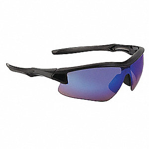 Honeywell Uvex Acadia  Scratch-Resistant Safety Glasses, Blue Mirror Lens Color