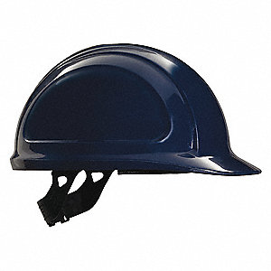 Front Brim Hard Hat, 4 pt. Pinlock Suspension, Navy, Hat Size: One Size Fits Most