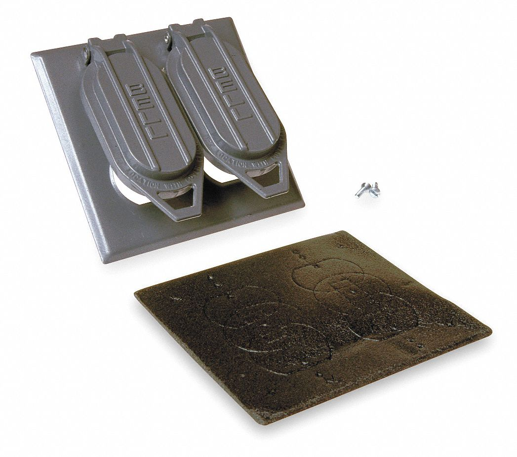 """Qty of 2 hubbell-bell 5101-0 weatherproof cover 4-9//16/"""" x 2-13//16/"""""""