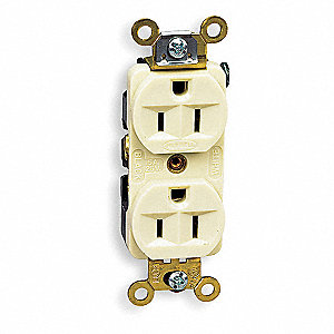 15A Industrial Environments Receptacle, Ivory; Tamper Resistant: No