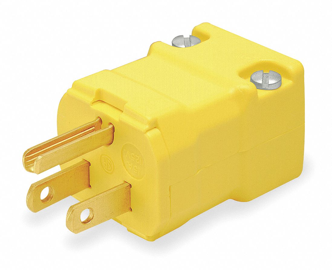 Hubbell Wiring Device-Kellems Hbl1547 Straight Blade Connector,5-15R,15A,125V