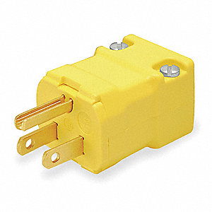 Straight Blade Plug, 15 Amps, 125VAC Voltage, NEMA Configuration: 5-15P, Number of Poles: 2