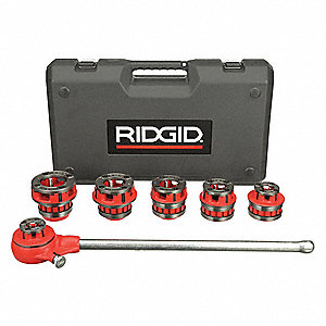 "Manual Ratchet Pipe Threader Kit For Bolts, Pipes, Rods, 14, 11-1/2 TPI For Nominal Pipe Size 1/2"" t"