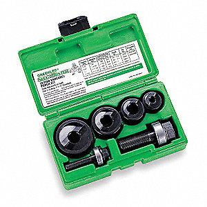 greenlee hole punch set 10 piece 10 12 ga steel 4a742 7235bb rh grainger com Greenlee Punch Kits 7646 Greenlee Parts