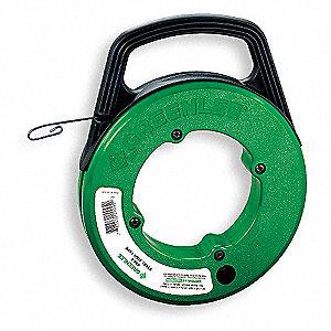 Greenlee steel fish tape 4a755 438 5 grainger for Steel fish tape