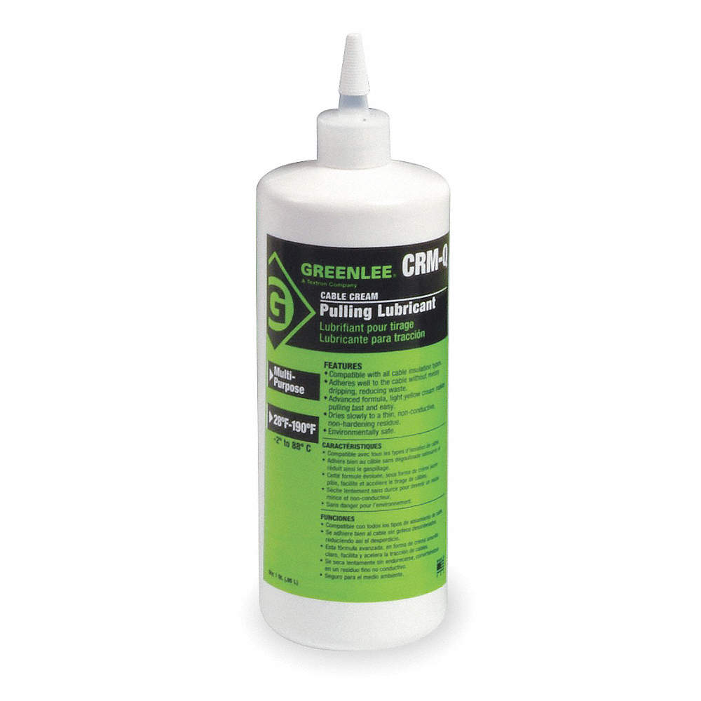 GREENLEE Chain, Cable, Wire Lubricant, 1 qt. Squeeze Bottle, Water ...