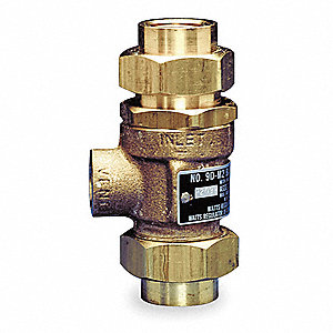 "1/2"" Dual Check Valve, Bronze, FNPT Union Connection Type"