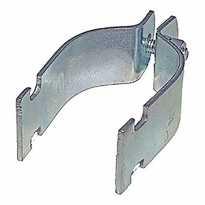 Steel Channel Universal Pipe Strap, Electro Galvanized Finish