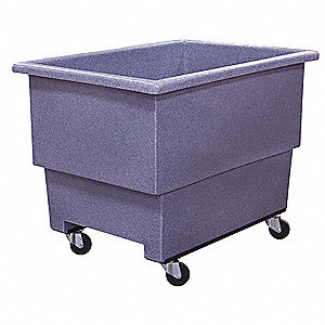 Cube Truck,HDPE,Gray,20.0 cu. ft.