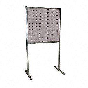 "75"" x 39"" Steel/Aluminum Free-Standing Toolboard with 1265 lb. Load Rating, Gray"