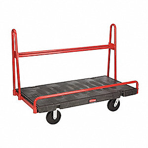 A-Frame Panel Truck, 2000 lb. Load Capacity, (2) Swivel, (2) Rigid Caster Wheel Type