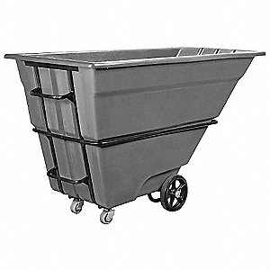 Tilt Truck, 1-1/2 cu. yd. Volume Capacity, 2000 lb. Load Capacity, Heavy-Duty Hopper Type