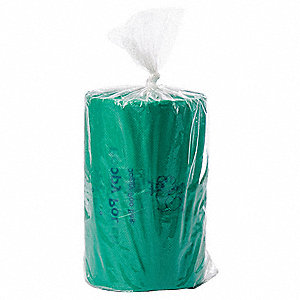 0.75 gal. Green Pet Waste Bag, Medium Strength Rating, Cored Roll, 2400 PK