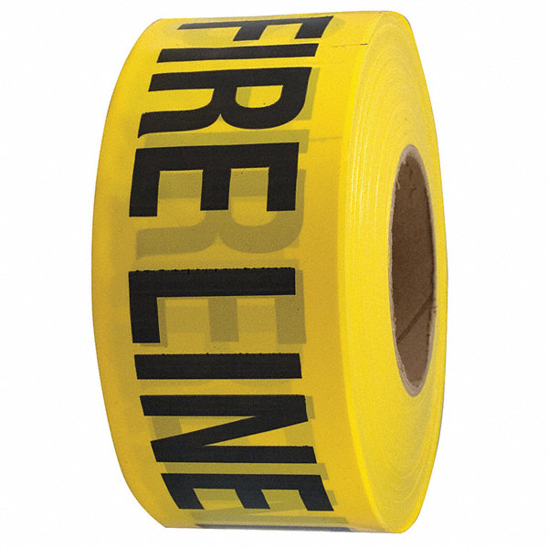 grainger approved barricade tape yellow black 1000ft x 3in