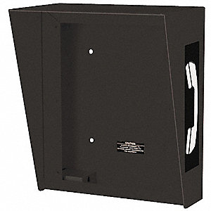 "Hooded Telephone Enclosure, Black, Height 12-5/16"", Width 10-5/16"", Depth 6-3/8"""
