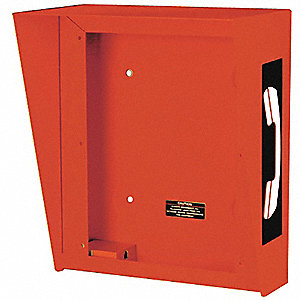 "10-5/16""W x 6-3/8""D x 12-5/16""H Hooded Telephone Enclosure, Red"