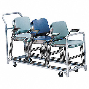 Folding/Stacked Chair Cart,67x22x43-1/4